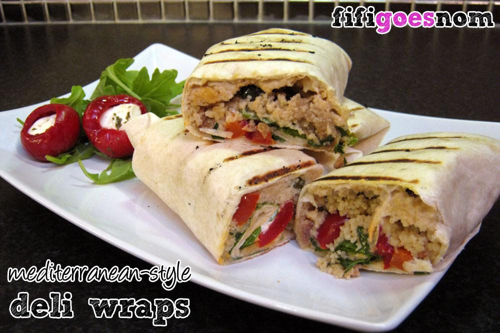 Mediterranean-Style Deli Wraps