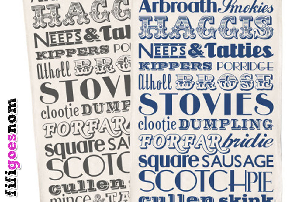 Scottish Dinner Tea Towels