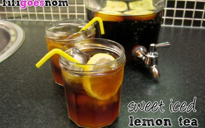 Sweet Iced Lemon Tea