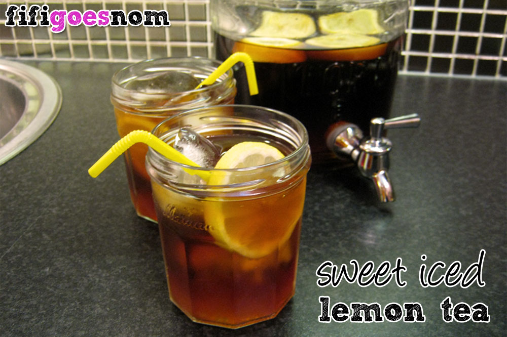 Sweet Iced Lemon Tea