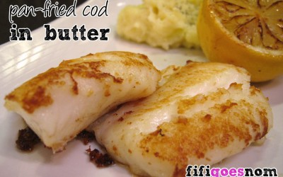 Pan-fried Cod in Butter with Caramelised Lemons
