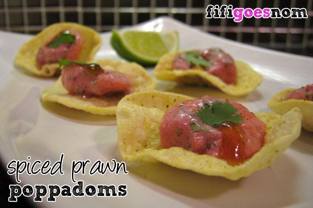 Spiced Prawn Poppadoms