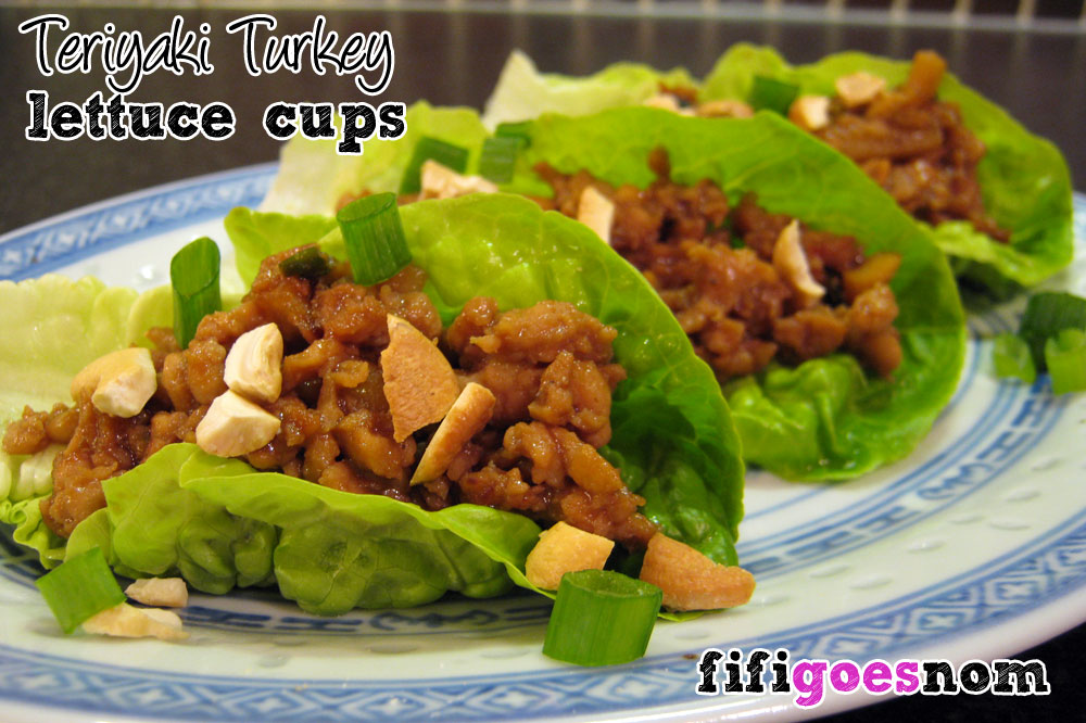 Teriyaki Turkey Lettuce Cups