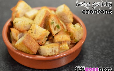Herby Garlicky Croutons