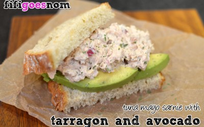 Tuna Mayo Sarnie with Tarragon & Avocado