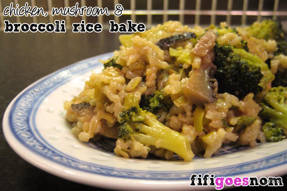 Chicken, Mushroom & Broccoli Rice Bake
