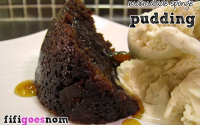 Three Chimneys Hot Marmalade Pudding