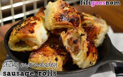 Marmaladey Sausage Rolls