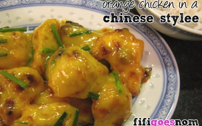 Orange Chicken in a Chinese Stylee