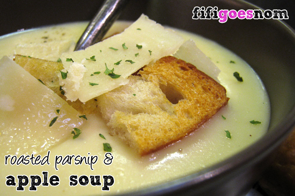 Roasted Parsnip & Apple Soup