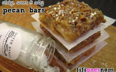 Sticky, sweet & salty pecan bars