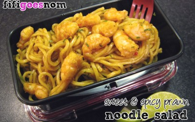 Sweet & Spicy Prawn Noodle Salad