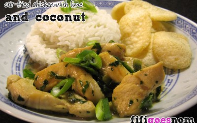 Delia's Stir-fried Chicken with Lime and Coconut