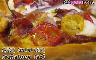 Easy Summery Tomatoey Tart