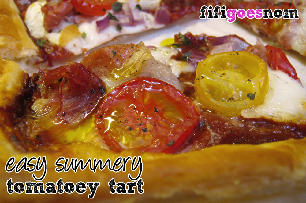 Easy Summery Tomatoey Tart