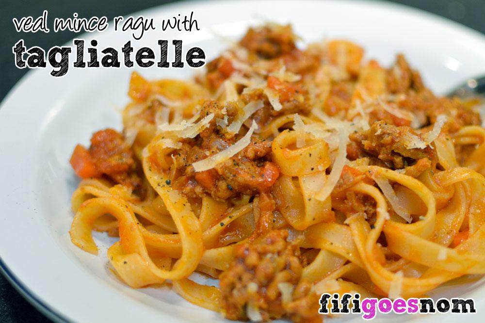 Veal Mince Ragu with Tagliatelle