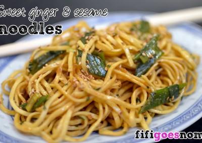 Sweet Ginger & Sesame Noodles